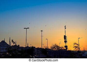 peru, pôr do sol, istambul