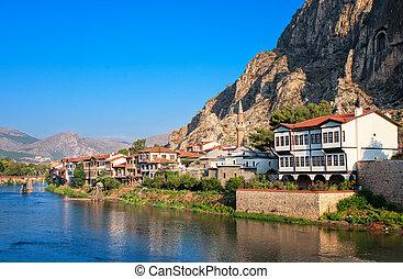 peru, pontus, antigas, poço, túmulos, amasya, otomano, arquitetura, reis, anatolia central, preservado