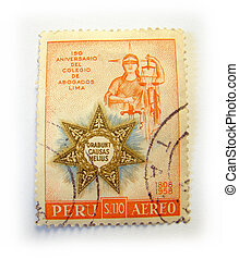 Peru postage stamp