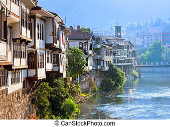 peru, tradicional, casas, otomano, amasya
