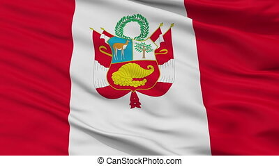 Peru War Flag Closeup Seamless Loop - Peru War Flag, Closeup...