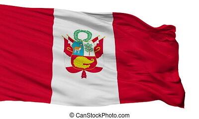 Peru War Flag Isolated Seamless Loop - Peru War Flag,...