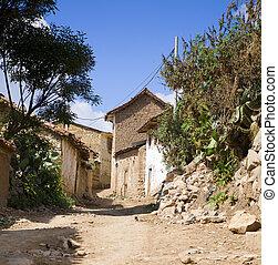 peruano, aldea