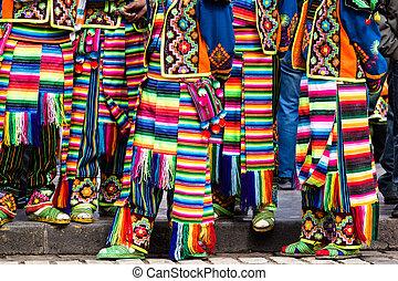 peruano, bailarines, desfile, cusco.