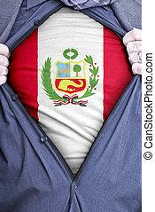 peruano, hombre de negocios