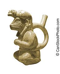 peruano, pre-colombino, escultura