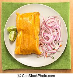 peruano, tamale