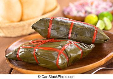 peruano, tamales
