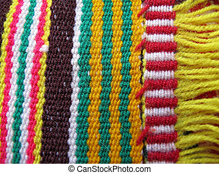 peruano, woolen, feito, tecido, mão