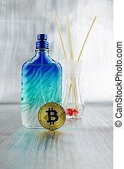 perume, monnaie, bitcoin, or