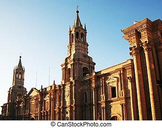 Peruvian city Arequipa - church in the Arequipa,Peru
