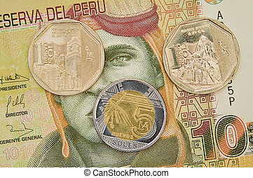 Peruvian coins.