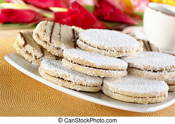 Peruvian Cookies Called Alfajores