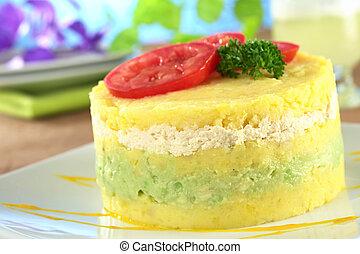 Peruvian Dish Called Causa - Peruvian dish called Causa made...