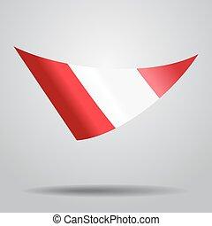 Peruvian flag background. Vector illustration. - Peruvian...