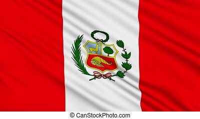 Peruvian flag, with real structure of a fabric