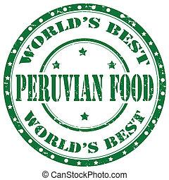 Peruvian Food-stamp - Grunge rubber stamp with text Peruvian...