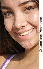 Peruvian Girl Smiling