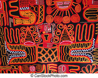 Peruvian hand made woolen fabric background