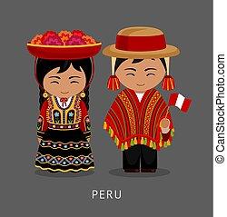 Peruvian in national dress.