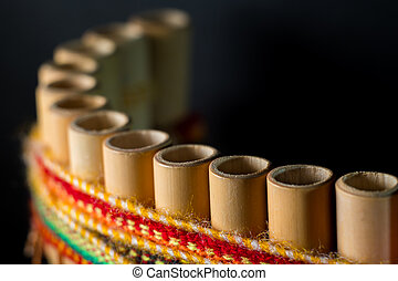Peruvian musical instrument made of bamboo