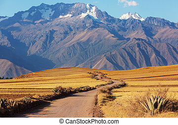 Peruvian pampa - Pampas landscapes in Cordillera de Los ...