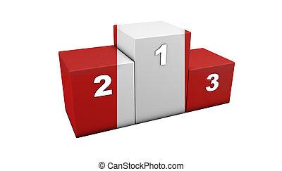 Peruvian Podium - Peruvian top positions podium for concept...