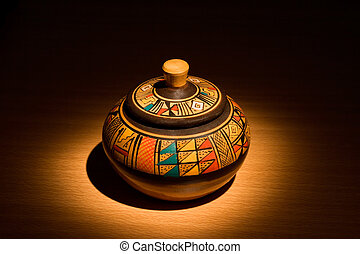Peruvian pottery - Peruvian handmade ceramic pot
