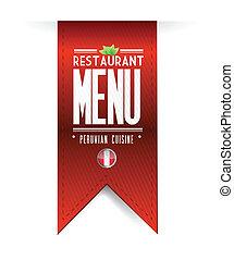 peruvian restaurant texture banner illustration over white