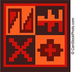 Peruvian ethnic design for textile.