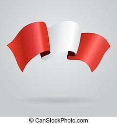 Peruvian waving Flag. Vector illustration