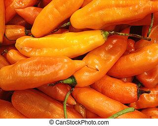 peruviano, pepe peperoncino rosso, giallo
