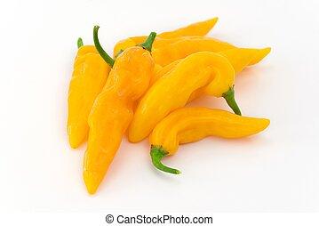 peruviano, peperoncino, giallo