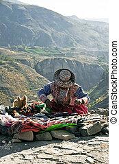peruwiański, kupiec, przydroże