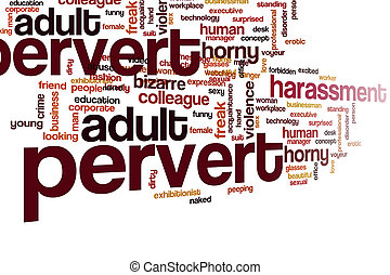 Pervert word cloud