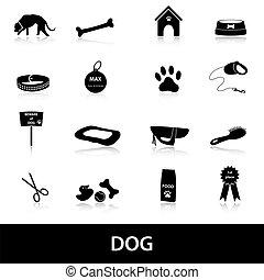 pes, ikona, dát, eps10