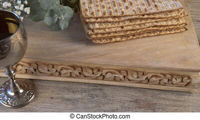 Pesach Passover symbols of great Jewish holiday. Traditional...