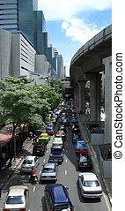 pesado, bangkok, tráfego