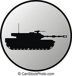 pesado, botão, modernos, tanque