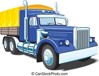 pesado, camión