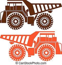 pesado, caminhão mineração