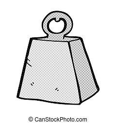 pesado, caricatura, peso