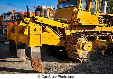 pesado, construção, máquinas