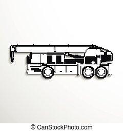 pesado, crane.