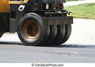 pesado, estrada, equipamento