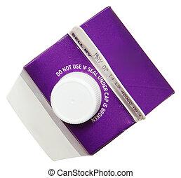 pesado, etiqueta, azotar, crema, blanco, cartón