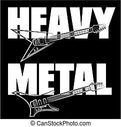 pesado, guitarra, metal
