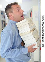 pesado, livros