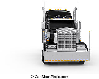pesado, negro, camión