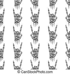 pesado, ossos, metal, seamless, padrão